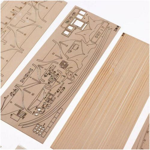 Wooden DIY Kit Ship Assembly Decoration Gift 1:100 Hot
