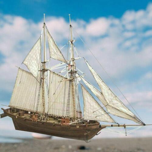 Wooden Sailing DIY Kit Ship Assembly Decoration Hot