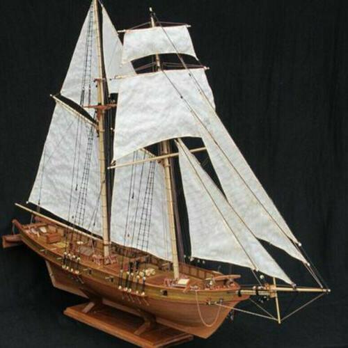 Wooden Sailing DIY Kit Ship Decoration 1:100 Hot