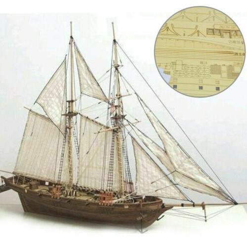 wooden sailing boat model diy kit ship