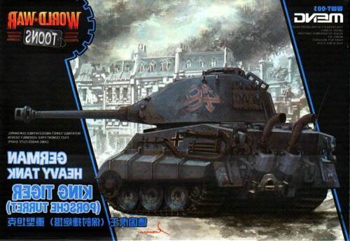 Meng World War Toons King Tiger German Heavy Tank SNAP PLAST