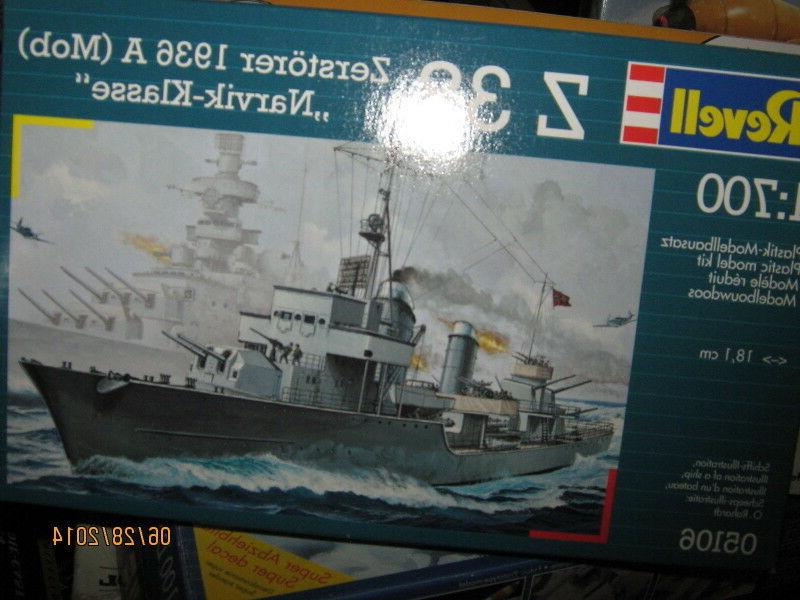 Revell WWII German Z-38 Destroyer Esort-1/700 Scale-FREE SHI