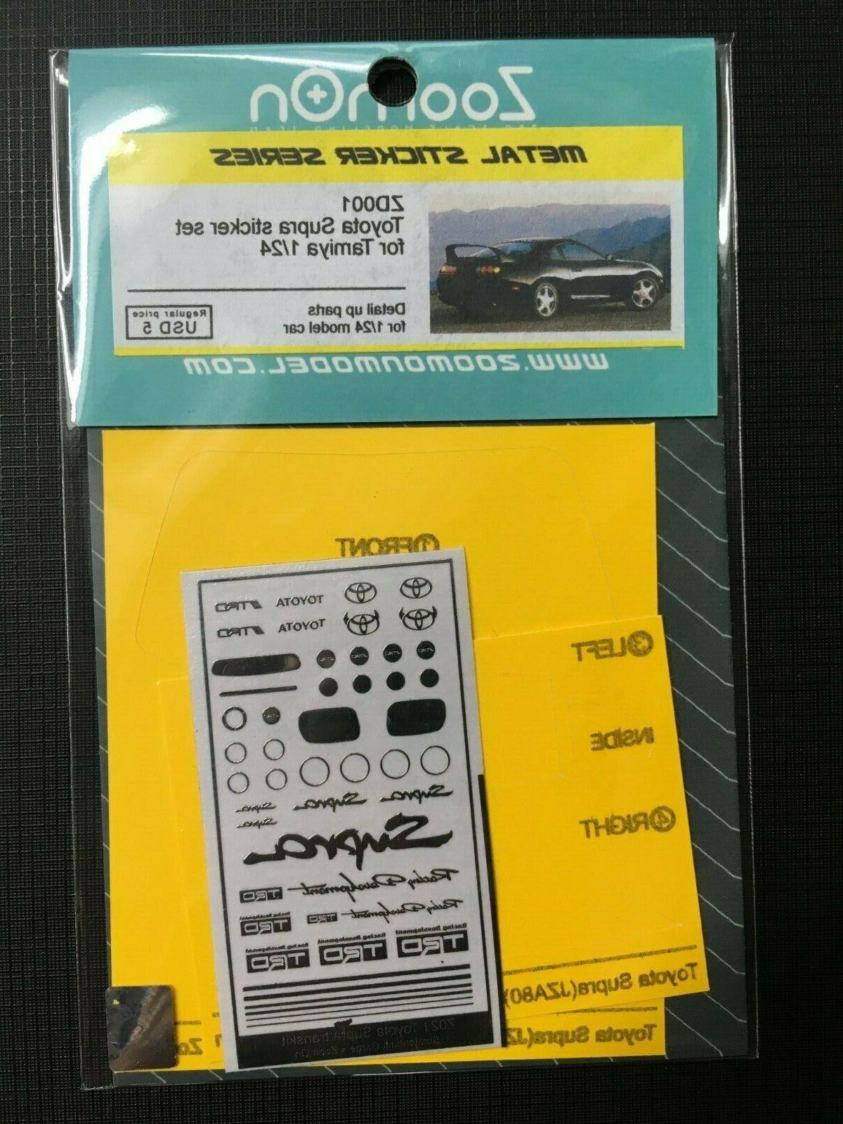zoomon trd metal decals sticker set