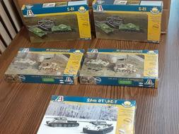 Lot  of 5 Italeri 1/72 Military Vehicles Model Kits New