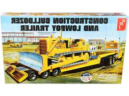 AMT Lowboy Trailer & Bulldozer Combo 1:25 scale model kit 12