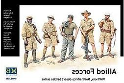 Master Box WWII Allied Forces N. Africa  Figure Model Buildi