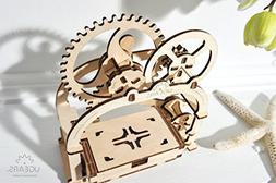 Ugears Mechanical Etui 3D Puzzle, Wooden Building Blocks, De