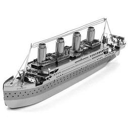 Fascinations Metal Earth Titanic Ship Silver 3D Laser Cut St