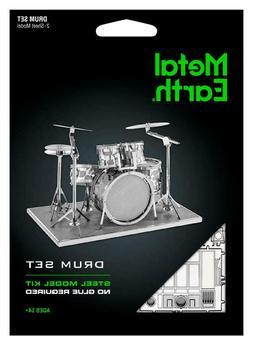 Fascinations Metal Earth Modern Drum Set 3D Laser Cut Steel