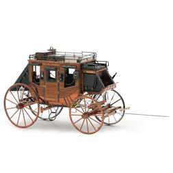 Fascinations Metal Earth Wild West Stagecoach 3D Steel Puzzl