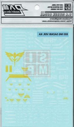 Mg Sazabi Ver. Ka Water Slide Decal SIMP USA SELLER