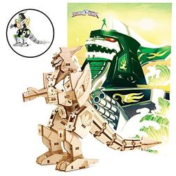 Mighty Morphin Power Rangers Dragonzord Poster and 3D Wood M