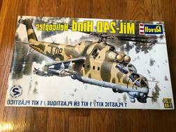 REVELL MIL-24D HIND HELICOPTER 1:48 MODEL KIT NEW, SEALED PA