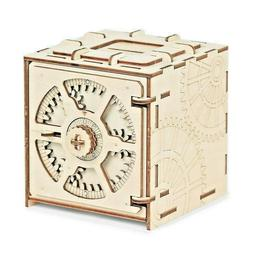Mini 3D Wooden Puzzle DIY Cipher Code Deposit Box Wooden Mod