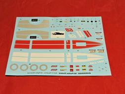 Model Car Parts Revell 1968 Foose Firebird Decal Sheet 1/25