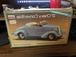 - LINDBERG MODEL KIT- 1937 CHEVY CONVERTIBLE-  -1:32 SCALE -