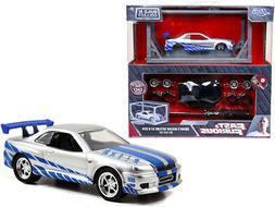 Model Kit Brian's Nissan Skyline GT-R R34 Fast & Furious Mov