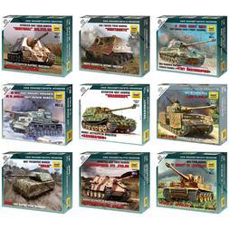 """ZVEZDA Model Kits """"German Tanks & Motorized Forces 1939-1945"""