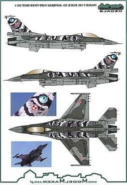 Model Maker Decals 1/72 POLISH F-16C BLOCK 52+ NATO TIGER ME