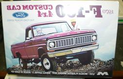 Moebius 1230 1970 Ford F-100 Custom Cab 4X4 Pickup Truck Pla