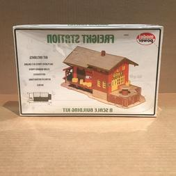 MODEL POWER N SCALE BUILDING KIT FREIGHT STATION #1576