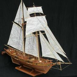 1:100 Halcon Wooden Sailing Boat Model DIY Kit Ship Assembly