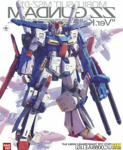 NEW 1/100 MG MSZ-010 ZZ Gundam Ver. Ka Model Kit Bandai Mast
