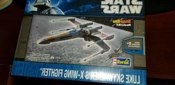 new revell model kit star wars luke skywalker's x-wing fight