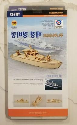 Young Modeler P 10 Baekroho Police Patrol Boat Wooden Assemb