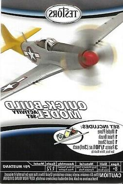 Testors P51 Mustang Quick Build Aircraft Airplane WWII Fight