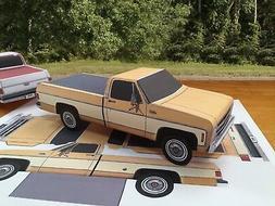 Papercraft 1975 GMC Sierra long bed Paper Model Truck EZU-ma