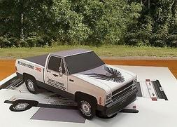 Papercraft 1980 GMC Indy Hauler short bed Paper Model Truck