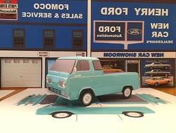 Papercraft Ford Econoline pickup truck paper model car EZU-m