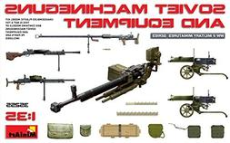 PLASTIC MODEL BUILDING KIT SOVIET MACHINEGUNS AND EQUIPMENT