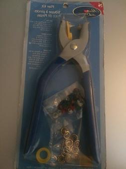 Prym Sewing Plier Kit Arts & Crafts Tool 4 Sizes 16 Snaps 25