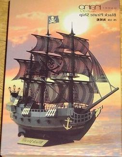 Kawada PN124 Paper Nano Black Pirate Ship Building Kit F/S f