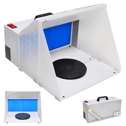 Portable Hobby Airbrush Paint Spray Booth Kit Oder Extractor