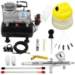 OPHIR PRO Airbrush Kit with Air Compressor Air Brush Gun Pai