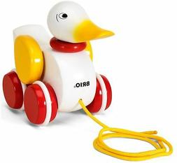 Brio PULL-ALONG DUCK WHITE Baby Infant Toddler Wooden Toy