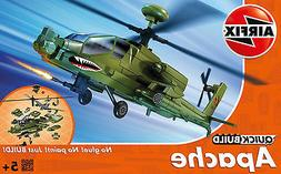 quick build apache helicopter plastic model kit