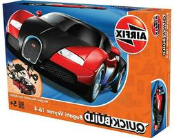 Airfix QUICK BUILD Black & Red Bugatti Veyron 16.4 Plastic M