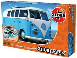 Airfix QUICK BUILD Light Blue Volkswagen VW Camper Van Plast