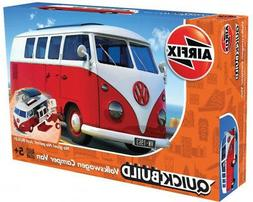 Airfix QUICK BUILD Red Volkswagen VW Camper Van Plastic Mode