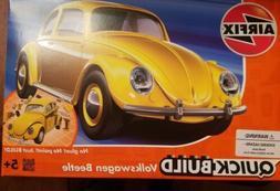 Airfix QUICK BUILD Yellow Volkswagen VW Beetle Plastic Model