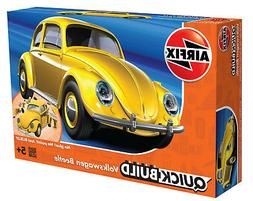 Airfix QUICK BUILD Yellow Volkswagen VW Beetle Plastic Model