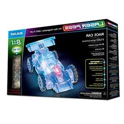 Laser Pegs Race Car 8-in-1 Building Set Building Kit; The Fi
