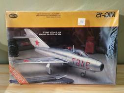RARE Vintage Testors 1/48 Russian MIG-15 Plastic Model Kit #