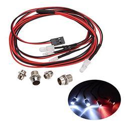 LAFEINA RC Car LED Light Kit, RC Truck 4 LED Lamp Kit Set 2