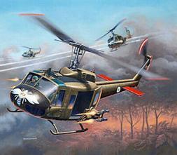 Revell-Germany Bell UHH-1H Gunship - Plastic Model Helicopte