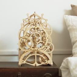 ROKR 3D Wooden Puzzle Pendulum Clock Gear Drive Toy Model Ki